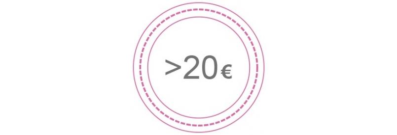 Más de 20 Euros